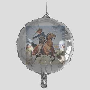 cowboy art Mylar Balloon