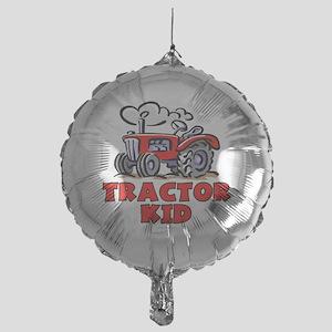 Red Tractor Kid Mylar Balloon