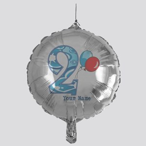 2nd Birthday Personalized Mylar Balloon