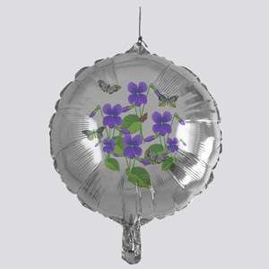 Violets and Butterflies Mylar Balloon