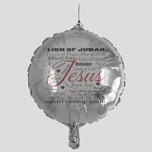 The Name of Jesus Mylar Balloon