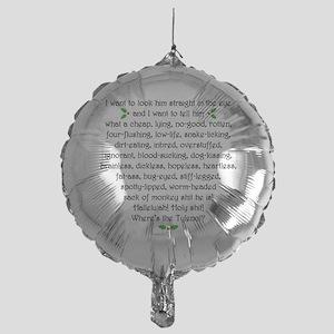 Holiday-Rant-Two Mylar Balloon