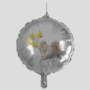 Squirrel Daffodils Mylar Balloon