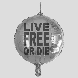 LiveFreeorDieBlack Mylar Balloon