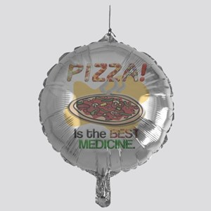 pizza is the best med 1 flat Mylar Balloon