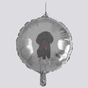 Poodle pup (blk) Mylar Balloon