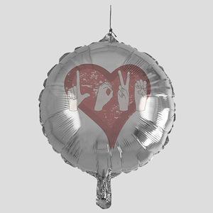 LoveASL Mylar Balloon