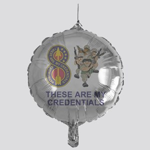 Army-8th-Infantry-Div-Humor-Credenti Mylar Balloon