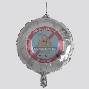 Tree Nut Allergy - Girl Mylar Balloon