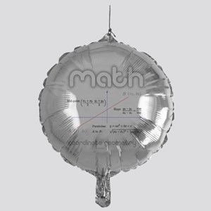 Math Coordinate Geometry Mylar Balloon