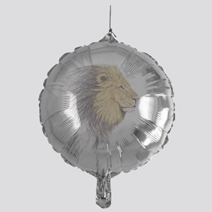 Lions Head Mylar Balloon
