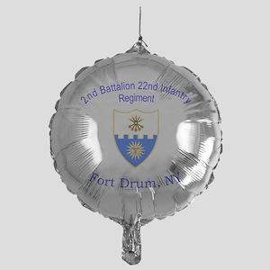 2nd Bn 22nd  inf Mylar Balloon