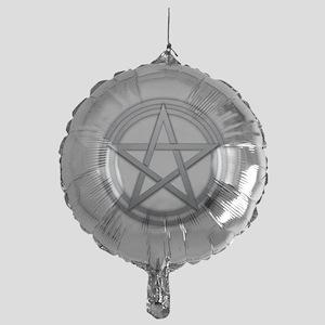 Silver Metal Pagan Pentacle Mylar Balloon