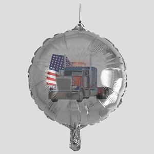 2-Am_Dark_Peterbilt_CP Mylar Balloon