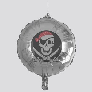 cant-sleep-pirates-black Mylar Balloon