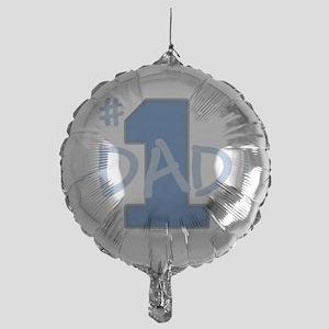 # 1 Dad blue gray Mylar Balloon