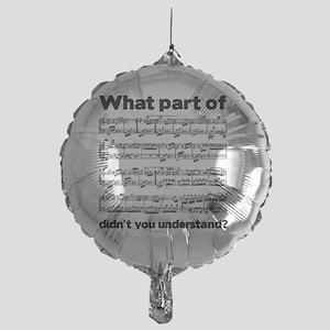 Partiture Mylar Balloon