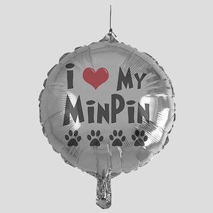 I-Love-My-Min-Pin Mylar Balloon
