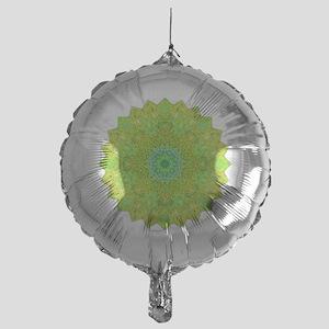 Green Yellow Earth Mandala Shirt Mylar Balloon