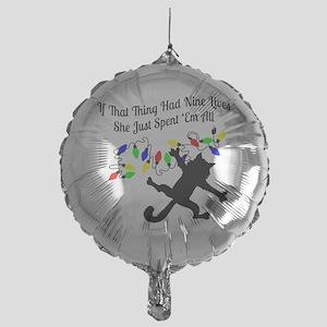 Nine-Lives-Colors Mylar Balloon