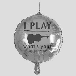 I play Violin Mylar Balloon