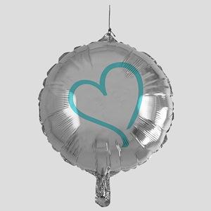 Baby Feet Heart Blue Mylar Balloon