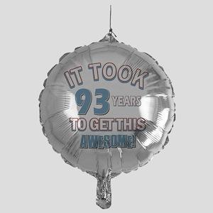 Awesome 93 year old birthday design Mylar Balloon