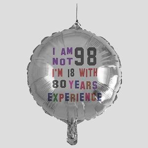 98 Birthday Designs Mylar Balloon
