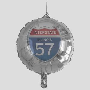 Interstate 57 - Illinois Mylar Balloon