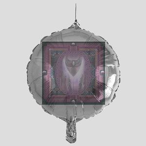 Winged Heart Mandala Mylar Balloon