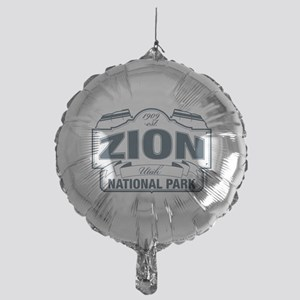 Zion National Park Blue Sign Mylar Balloon