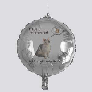 Hannukah Dreidel Cat Mylar Balloon
