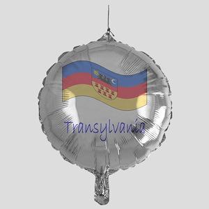 Waving Transylvania Historical Flag Mylar Balloon
