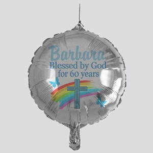 DELIGHTFUL 60TH Mylar Balloon