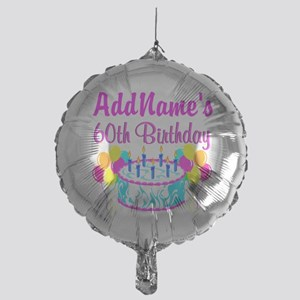 AWESOME 60TH Mylar Balloon