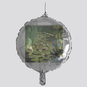 Koi Pond and Water Lilies copy Mylar Balloon