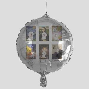 FamousArt-BichonFrise-CLEAR Mylar Balloon
