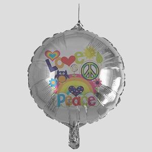 Love and Peace Mylar Balloon