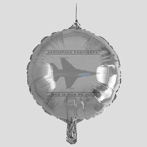 aero_roll_bk Mylar Balloon