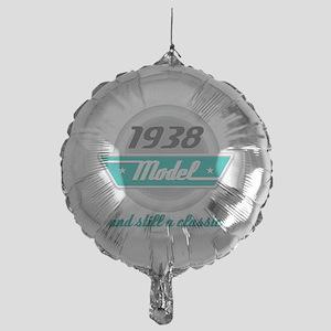 1938 Birthday Vintage Chrome Mylar Balloon