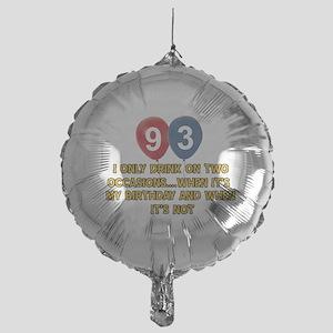 93 year old birthday designs Mylar Balloon