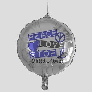 Peace Love Stop Child Abuse 1 Mylar Balloon