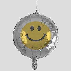 Yellow Smiley Face Mylar Balloon