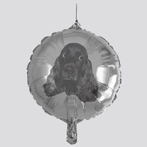Cute Black Cocker Spaniel Portrait P Mylar Balloon