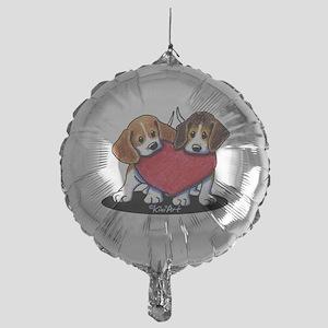 Beagle Heartfelt Duo Mylar Balloon