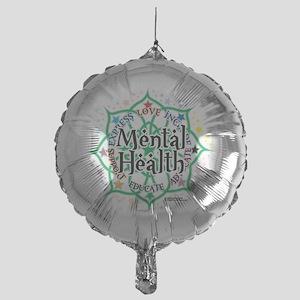 Mental-Health-Lotus Mylar Balloon