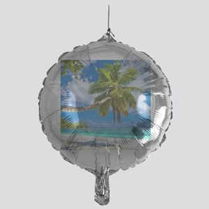 Tropical Beach Mylar Balloon