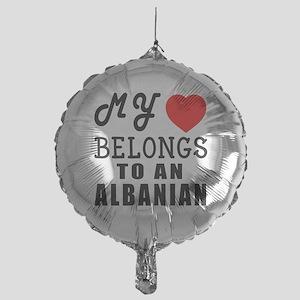 I Love Albanian Mylar Balloon