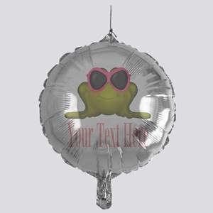 Frog in Pink Sunglasses Custom Balloon