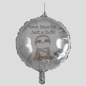 Cute Just a Sloth Mylar Balloon